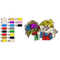 Dennis the Menace Embroidery Design 16