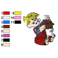 Dennis the Menace Embroidery Design 2