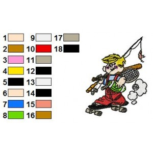 Dennis the Menace Embroidery Design 4