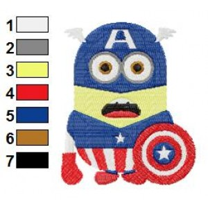 Despicable Me Captain America Embroidery Design