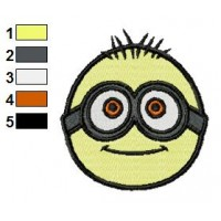 Despicable Me Face Minion Embroidery Design