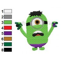 Despicable Me Hulk Embroidery Design