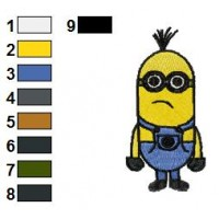 Despicable Me Minions Embroidery Design