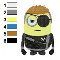 Despicable Me Nick Fury Embroidery Design