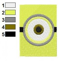Despicable Me One Eye Embroidery Design