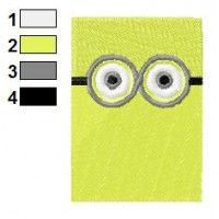 Despicable Me Rectangle Face Embroidery Design 02