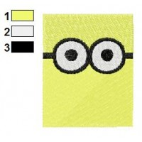 Despicable Me Rectangle Face Embroidery Design