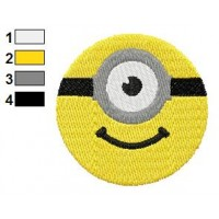 Despicable Me Rounded Face Embroidery Design