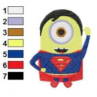 Despicable Me Superman Embroidery Design