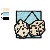 Dice Toy Embroidery Design 02