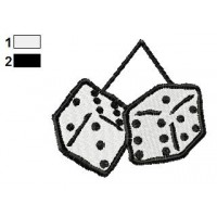 Dice Toy Embroidery Design