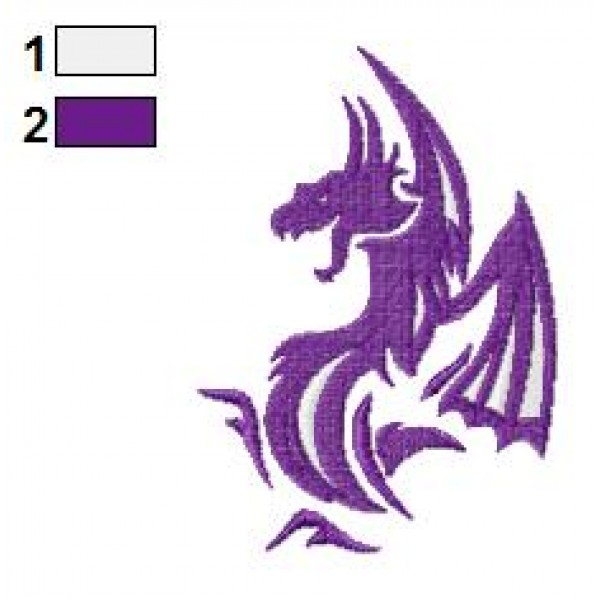 dragon tattoo embroidery design 11. Black Bedroom Furniture Sets. Home Design Ideas