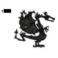Dragon Tattoo Embroidery Design 21