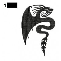 Dragon Tattoo Embroidery Design 27