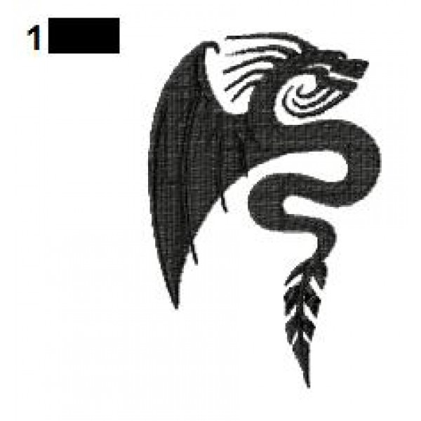 dragon tattoo embroidery design 27. Black Bedroom Furniture Sets. Home Design Ideas