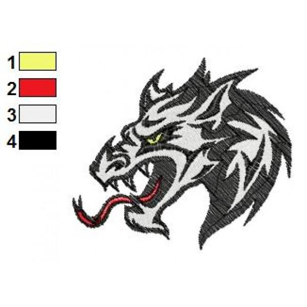 dragon tattoo embroidery design 33. Black Bedroom Furniture Sets. Home Design Ideas