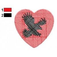 Eagle Heart Tattoos Embroidery Designs