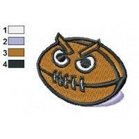 Evil Ball Embroidery Design