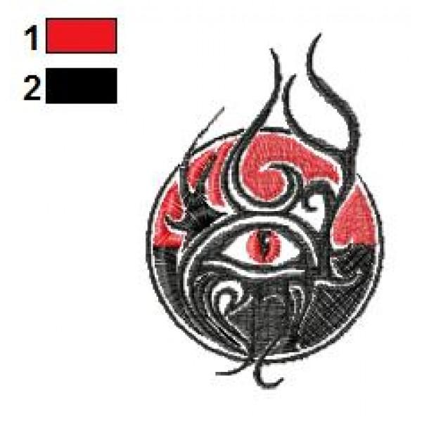 Eye Snake Tattoo Embroidery Design