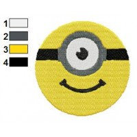 Face Despicable Me Embroidery Design