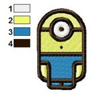 Funny Cylindrical Minions Embroidery Design