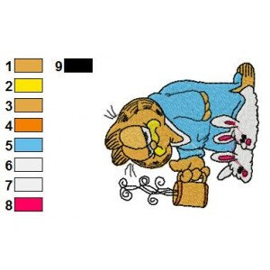 Garfield 01 Embroidery Designs 43