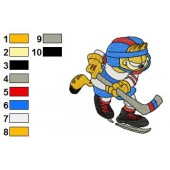 Garfield 01 Embroidery Designs 46