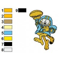 Garfield 01 Embroidery Designs 48