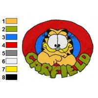 Garfield Embroidery Design 1