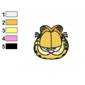 Garfield Face Embroidery Designs