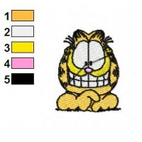Garfield Happy Face Embroidery Designs