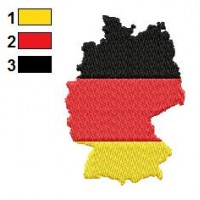 German Flag and Map Embroidery Design