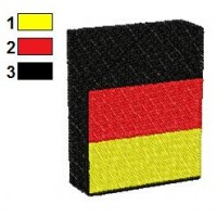 German Flag on Box Embroidery Design