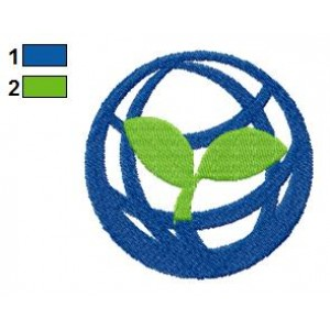 Global Tree Embroidery Design