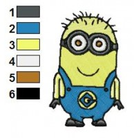Happy Despicable Me Jerry 01 Embroidery Design