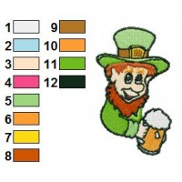 Happy Leprechaun Embroidery Design