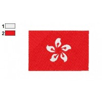 Hong Kong Flag Embroidery Design