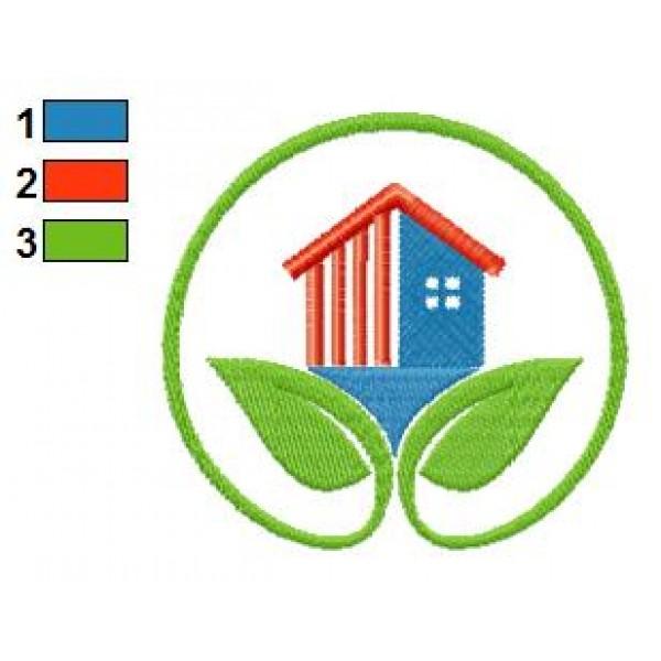 House Leaf Logo Embroidery