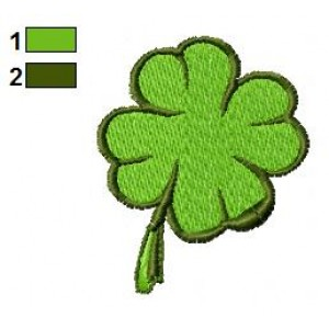 Leaf of Leprechaun Embroidery Design