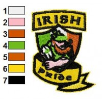 Leprechaun Rugby Embroidery Design