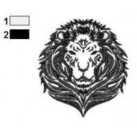 Lion Tattoo Embroidery Designs 06