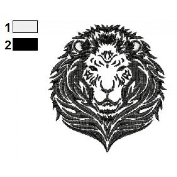 lion tattoo embroidery designs 06. Black Bedroom Furniture Sets. Home Design Ideas