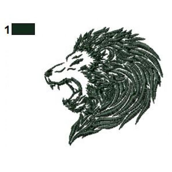 lion tattoo embroidery designs 07. Black Bedroom Furniture Sets. Home Design Ideas