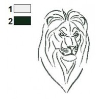 Lion Tattoo Embroidery Designs 09