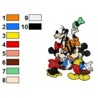 Mickey And Friends Embroidery 20