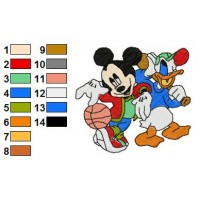 Mickey And Pals Embroidery 1
