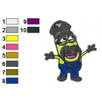 Minions Despicable Me Embroidery Design