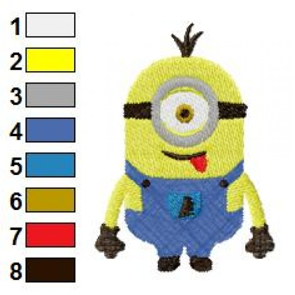 One Eye Despicable Me Embroidery Design