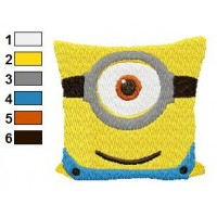 Minions Pillow Despicable Me Embroidery Design