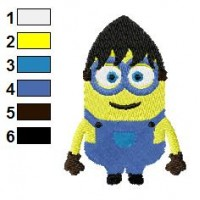 Minions Two Eyes Despicable Me Embroidery Design